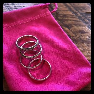 Silpada sterling silver stackable rings
